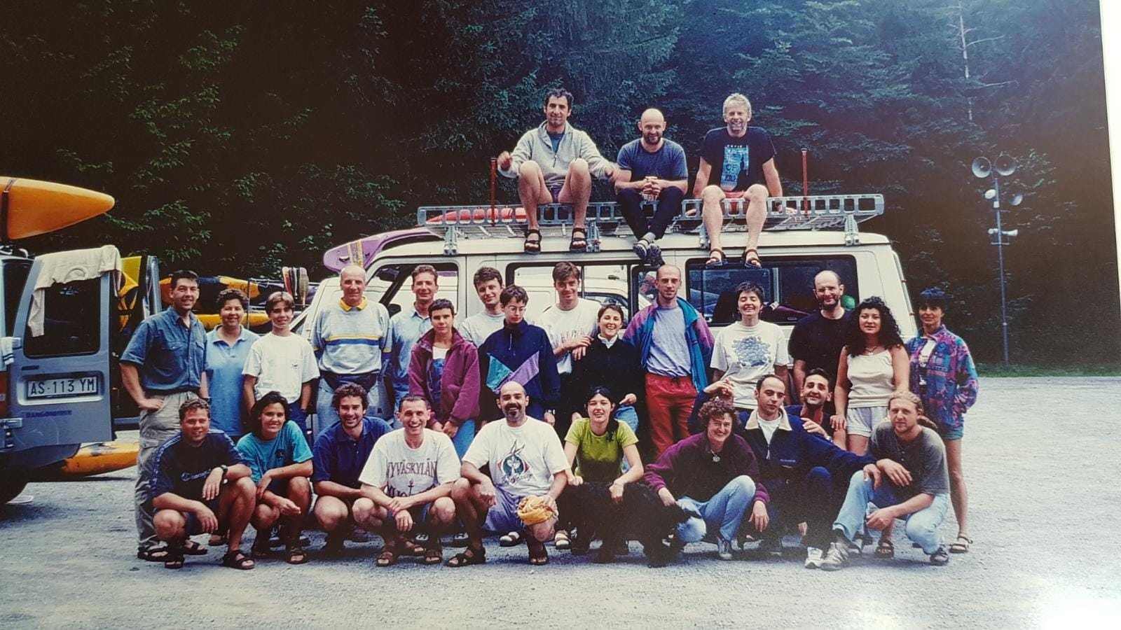 Uscita del corso di canoa, 1998 (o forse 1996?)